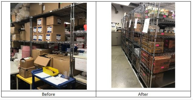 Storage Before & After